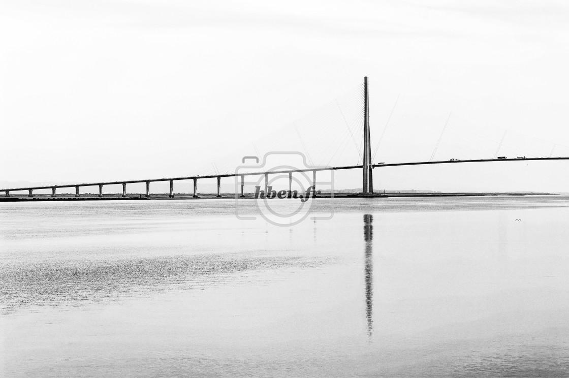"""The pont de Normandie bridge"" stock image"