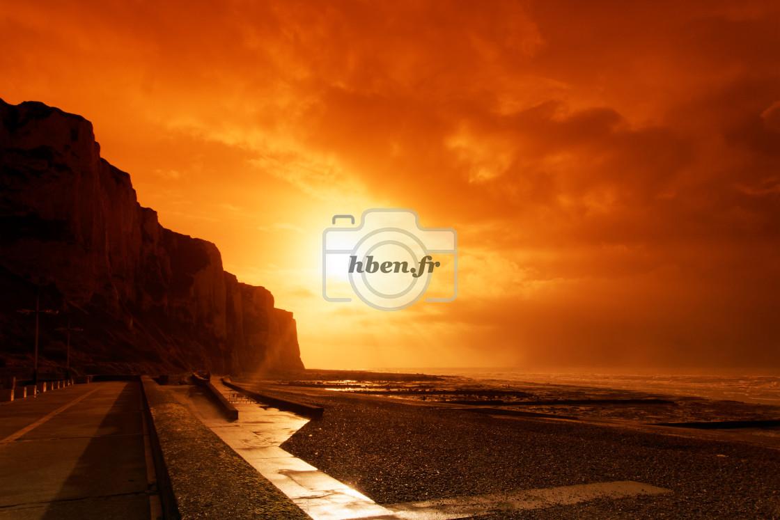 """""""Le treport sunset"""" stock image"""