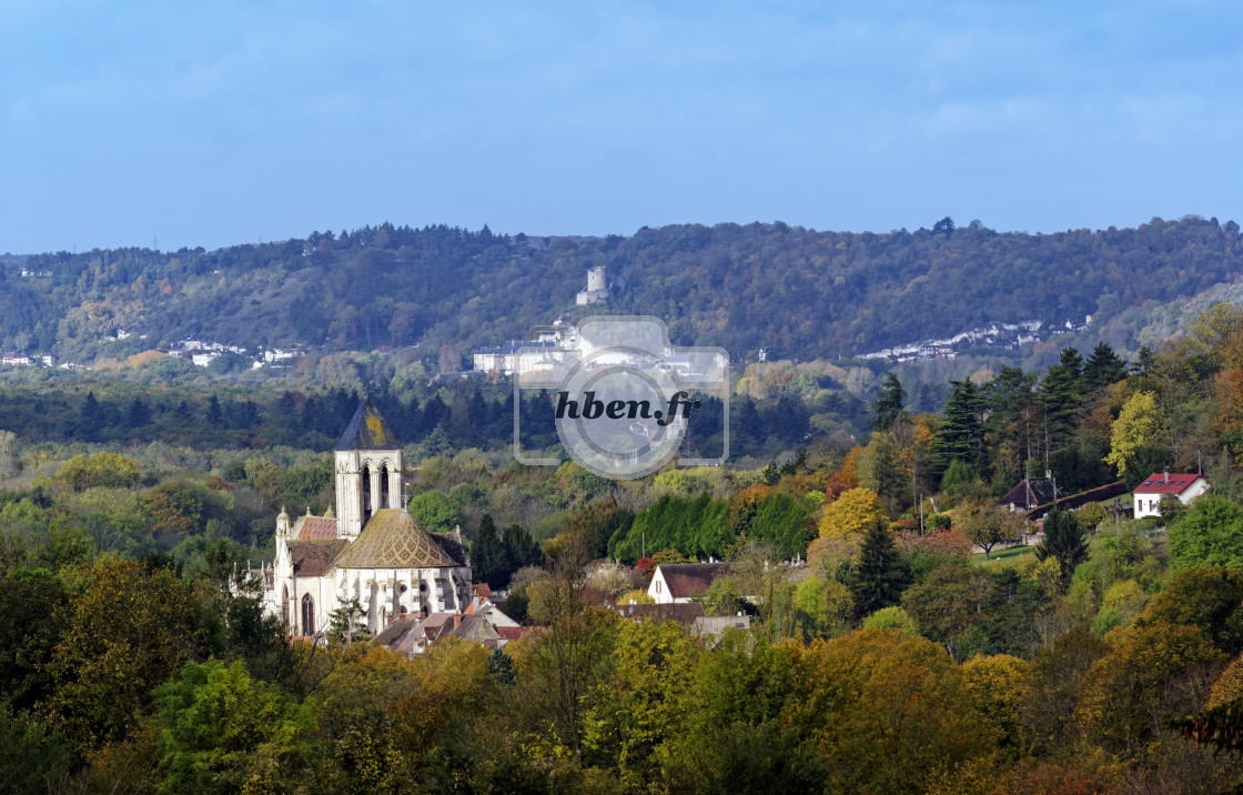 """Vetheuil valley"" stock image"