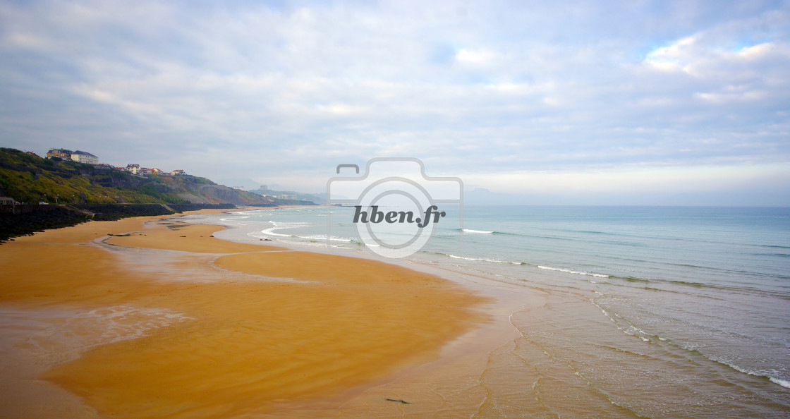 """Beach of Biarritz in Basque coast"" stock image"