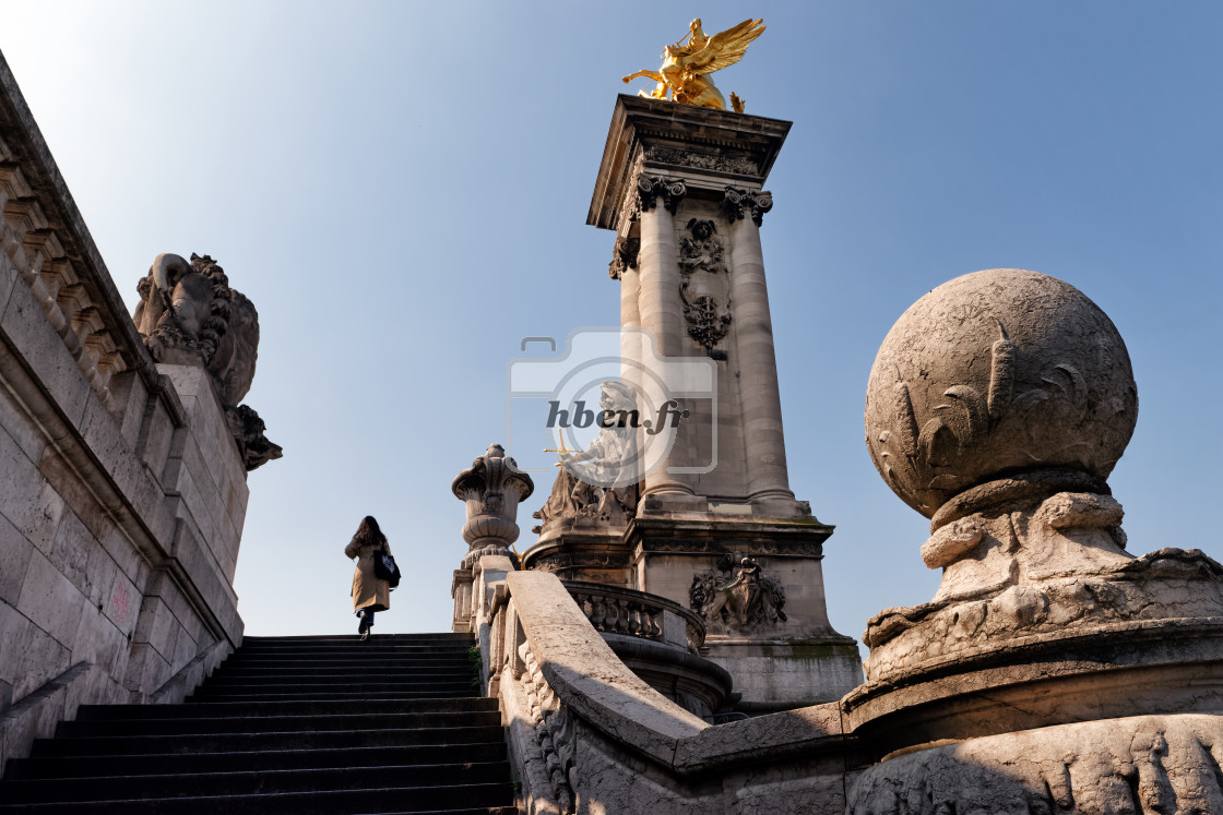 """Alexandre 3 bridge"" stock image"