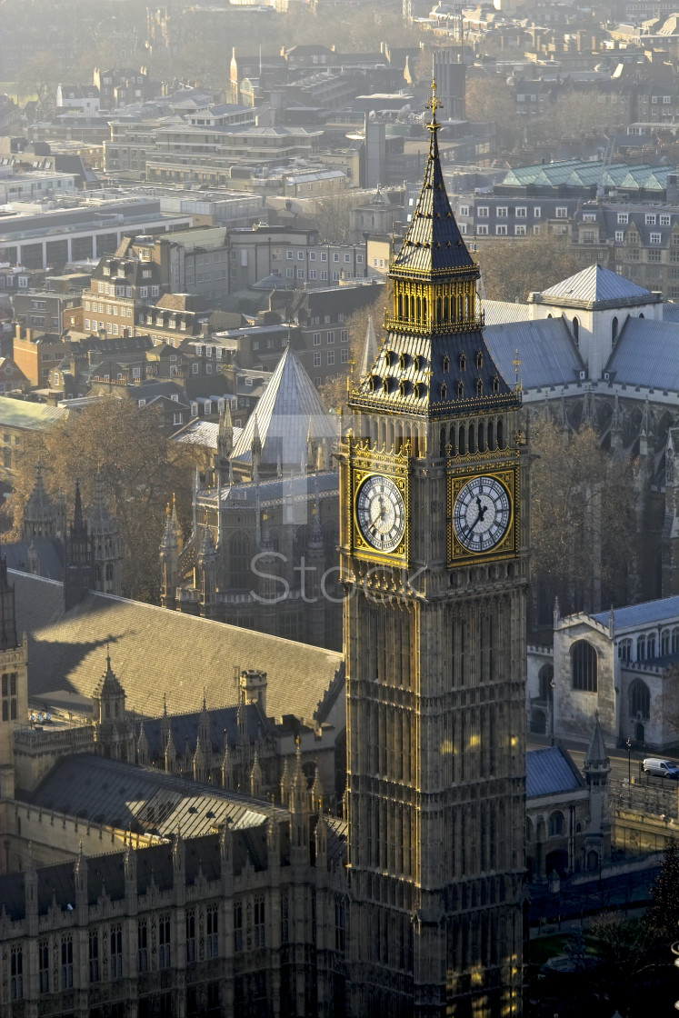 """""""Big Ben from above"""" stock image"""