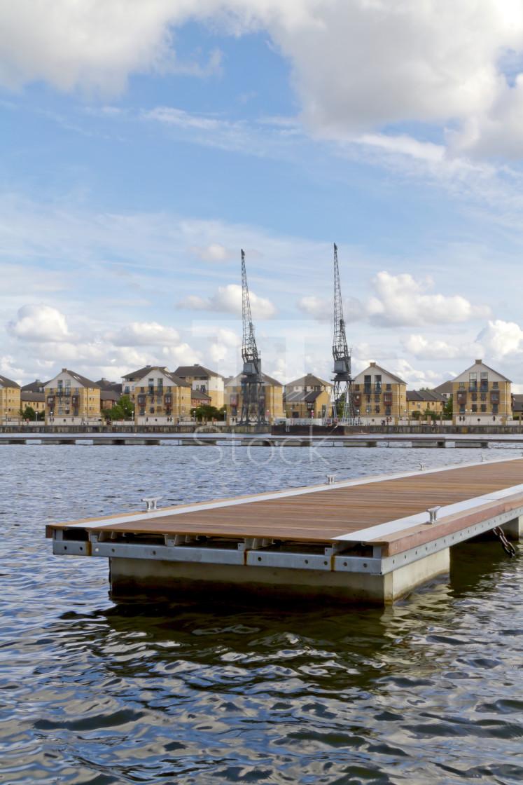 """Royal Victoria dock"" stock image"