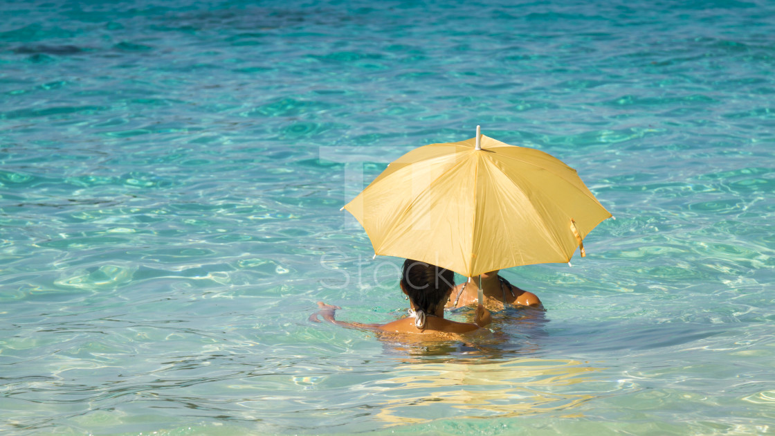 """Women under an umbrella 1"" stock image"
