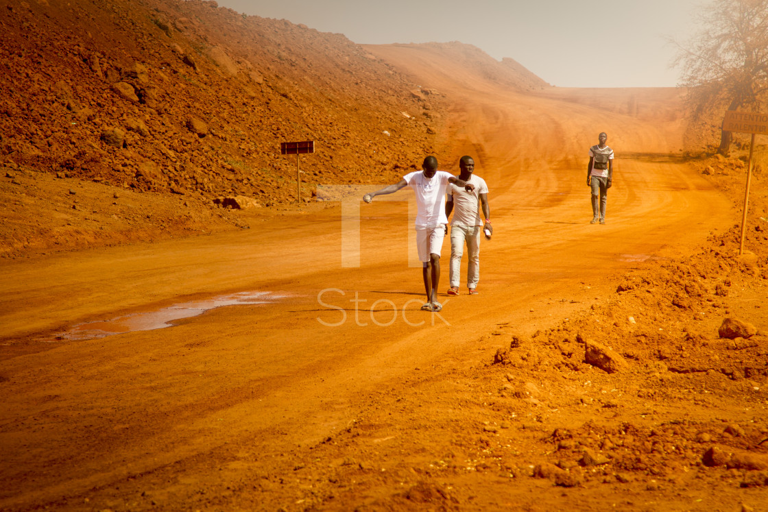 """Walking home from work"" stock image"