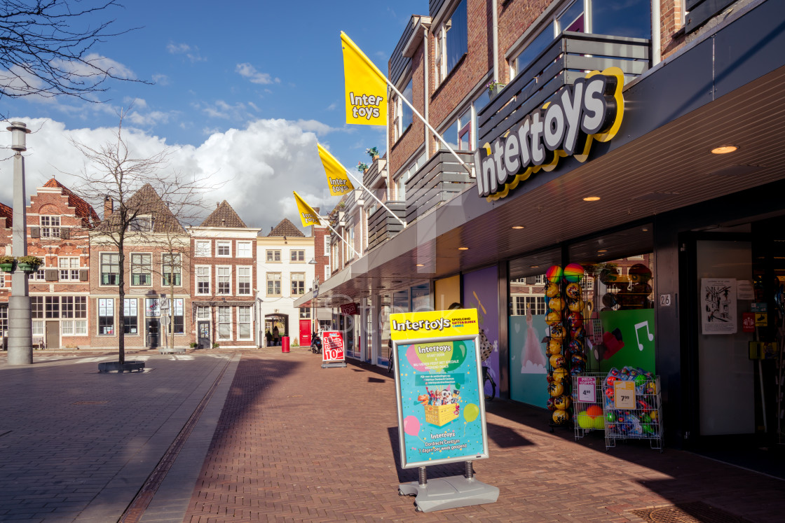 """Intertoys shop on the square"" stock image"