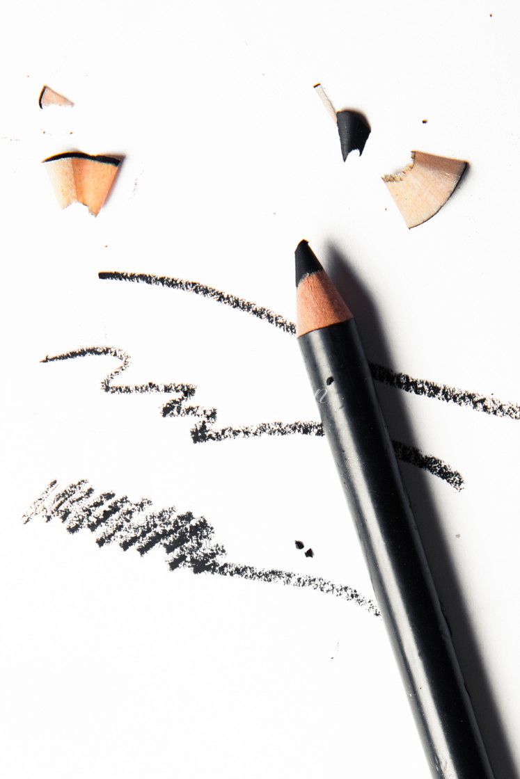 """crushed make-up products - beauty and cosmetics styled concept"" stock image"