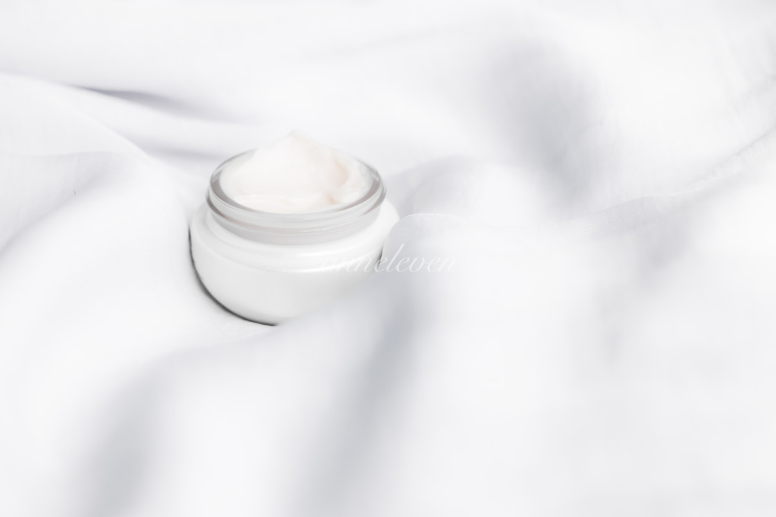 """luxury face cream on soft silk - anti-aging, cosmetic and beauty styled concept"" stock image"