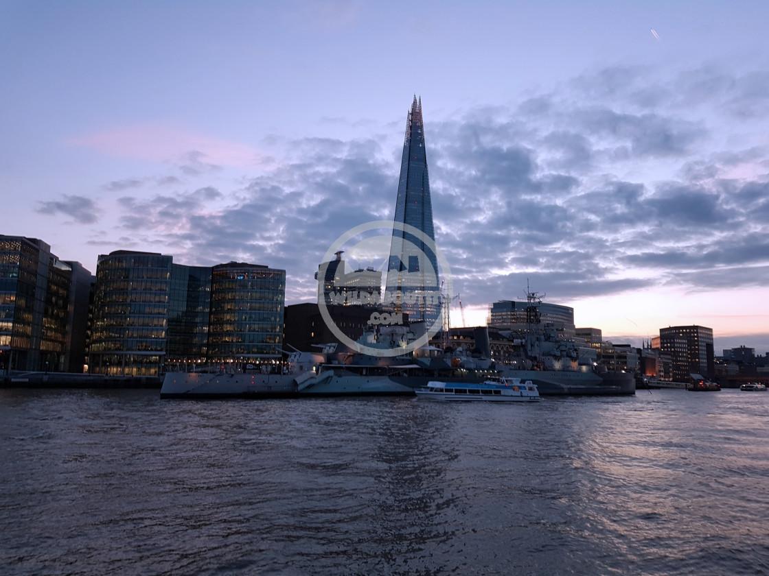 """Thames At Dusk"" stock image"