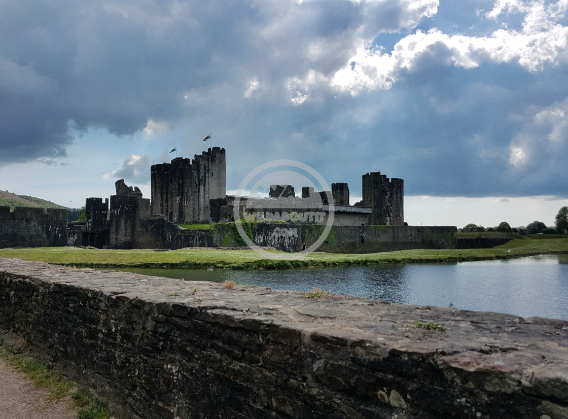 """""""Caerphilly Castle"""" stock image"""