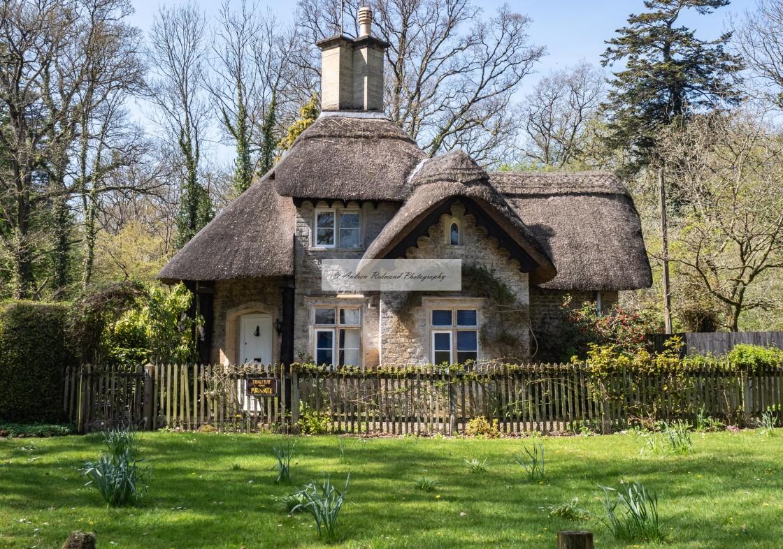 """""""Longleat Cottage"""" stock image"""