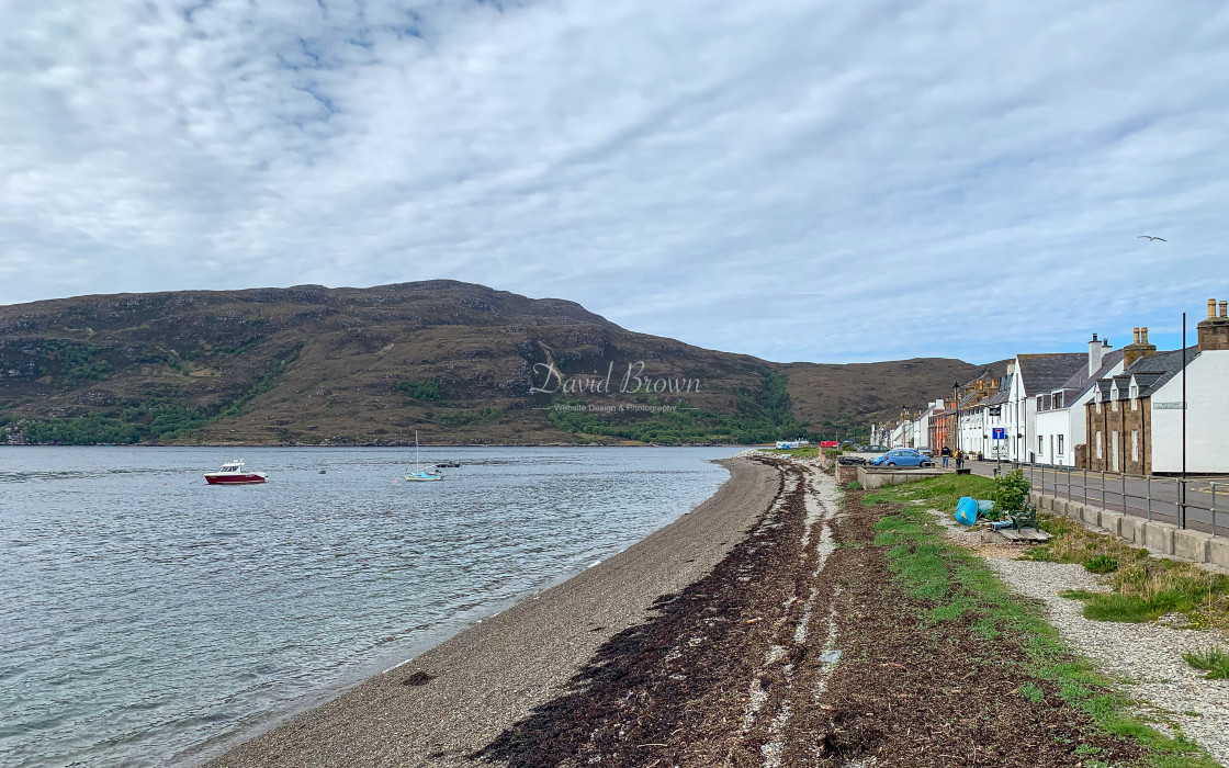 """Shoreline at Ullapool"" stock image"