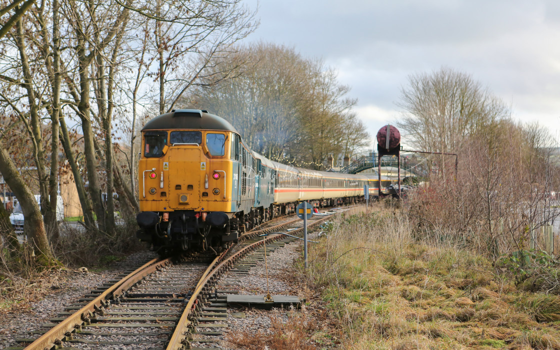 """31106 & 31459 at Stanhope"" stock image"