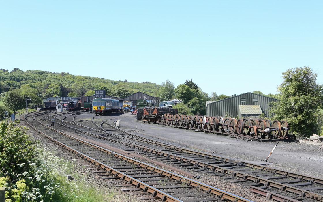 """""""Engine Shed at Weybourne"""" stock image"""