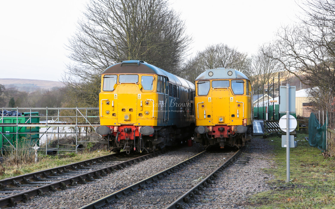 """31106 and 31465 at Stanhope"" stock image"