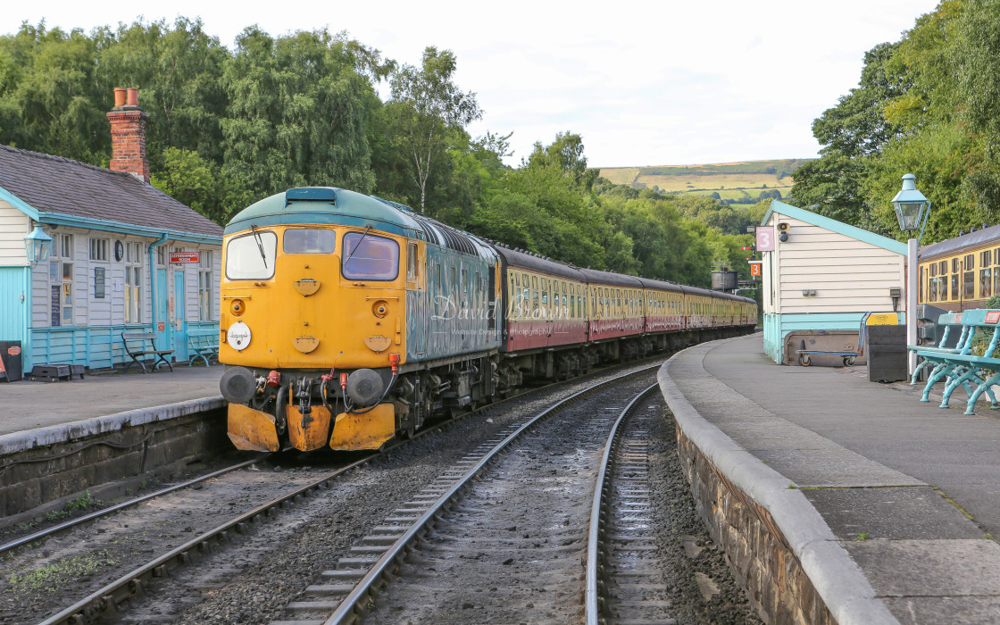 """""""26038 at Grosmont"""" stock image"""