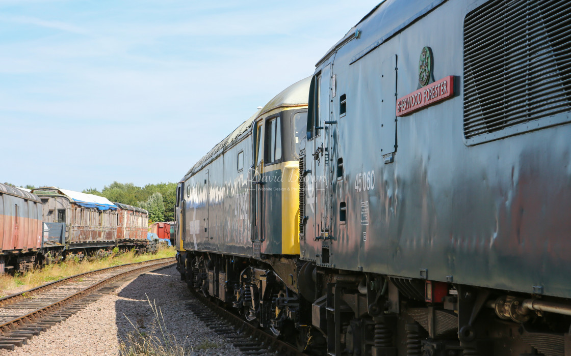 """45060 at Ruddington"" stock image"