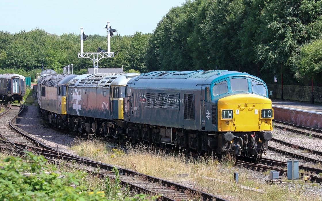"""45060 and 47292 at Ruddington"" stock image"