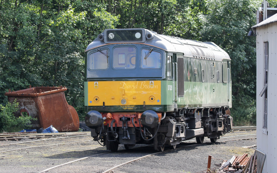 """D7628 at Grosmont"" stock image"