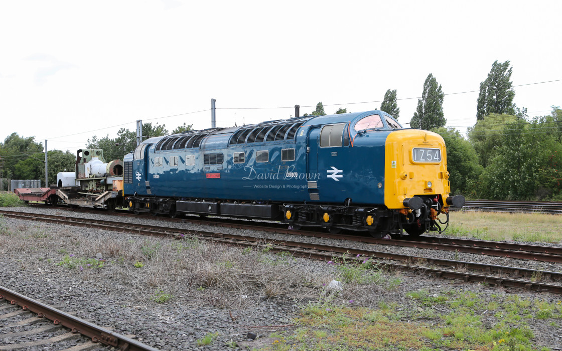"""Deltic D9009 at NRM York"" stock image"