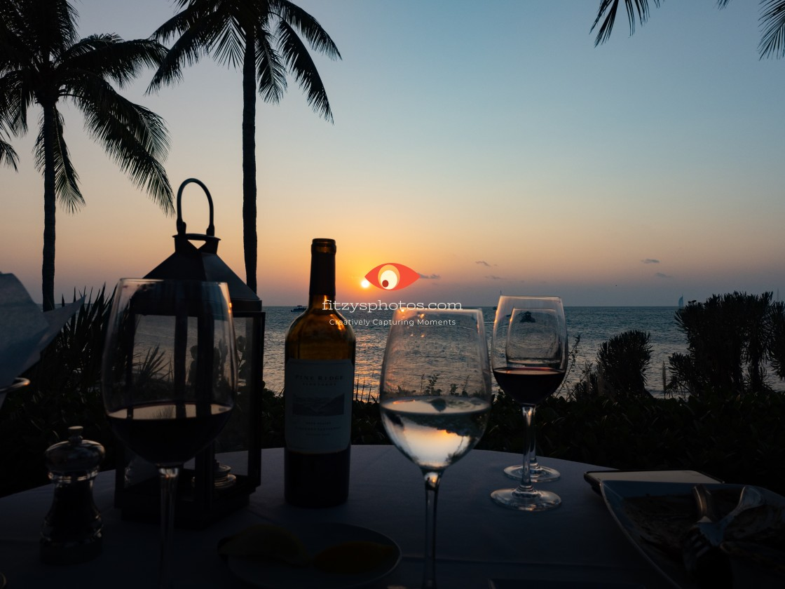 """Sunset and Wine"" stock image"