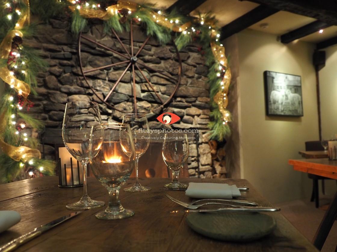 """""""Inn for dinner"""" stock image"""