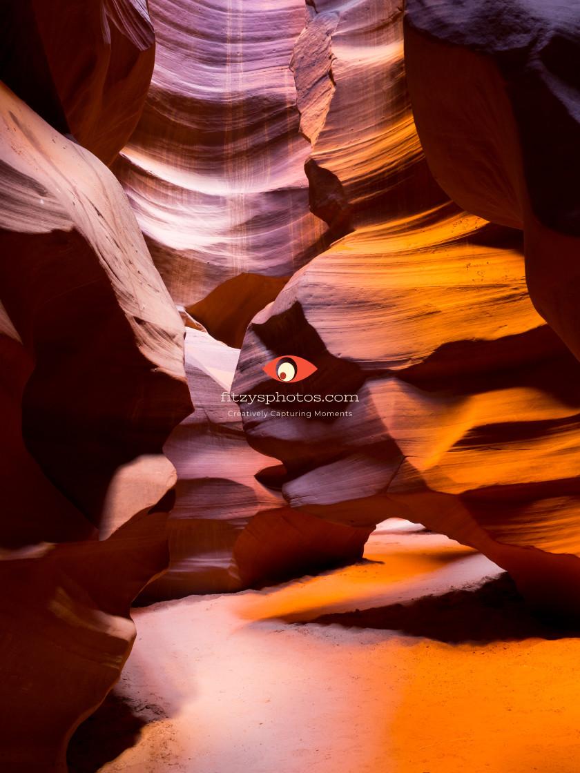 """""""Antelope Canyon walk"""" stock image"""
