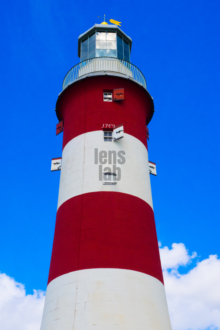 """""""Plymouth Lighthouse"""" stock image"""