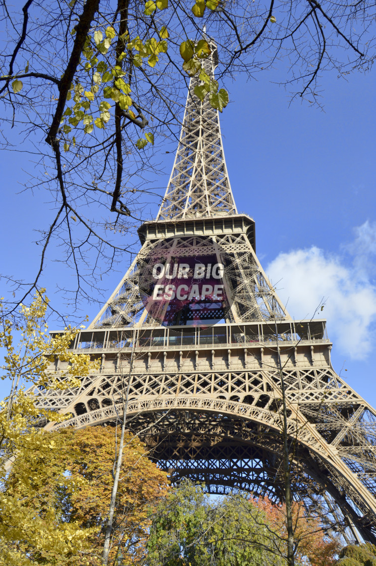 """""""Shooting Up the Eifel Tower from Below"""" stock image"""