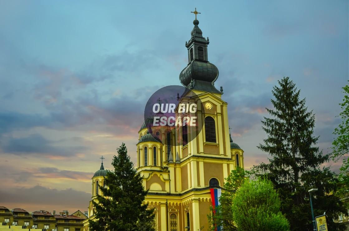 """Sarajevo, Bosnia Colorful Church In Old Town"" stock image"