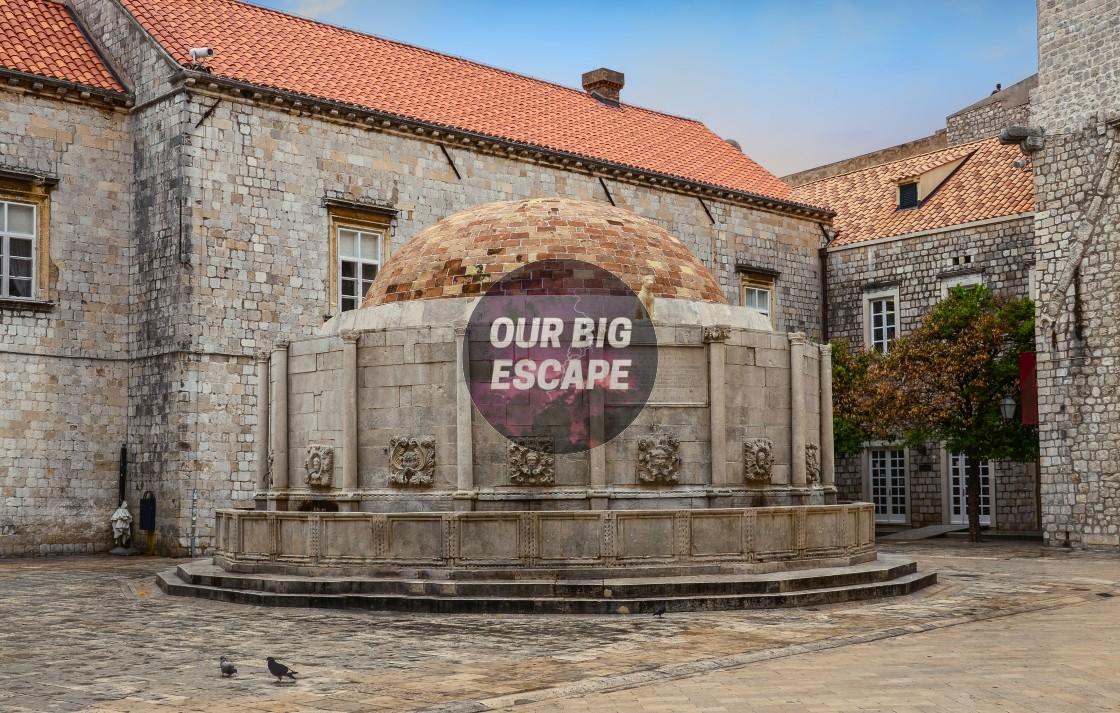 """Dubrovnik, Croatia Ancient Water Cistern"" stock image"