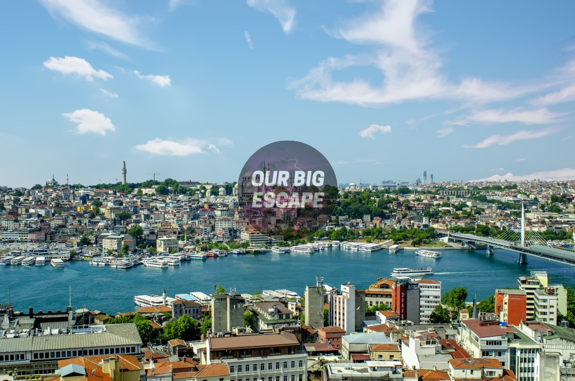 """""""Panorama View of the Golden Horn In Istanbul, Turkey"""" stock image"""