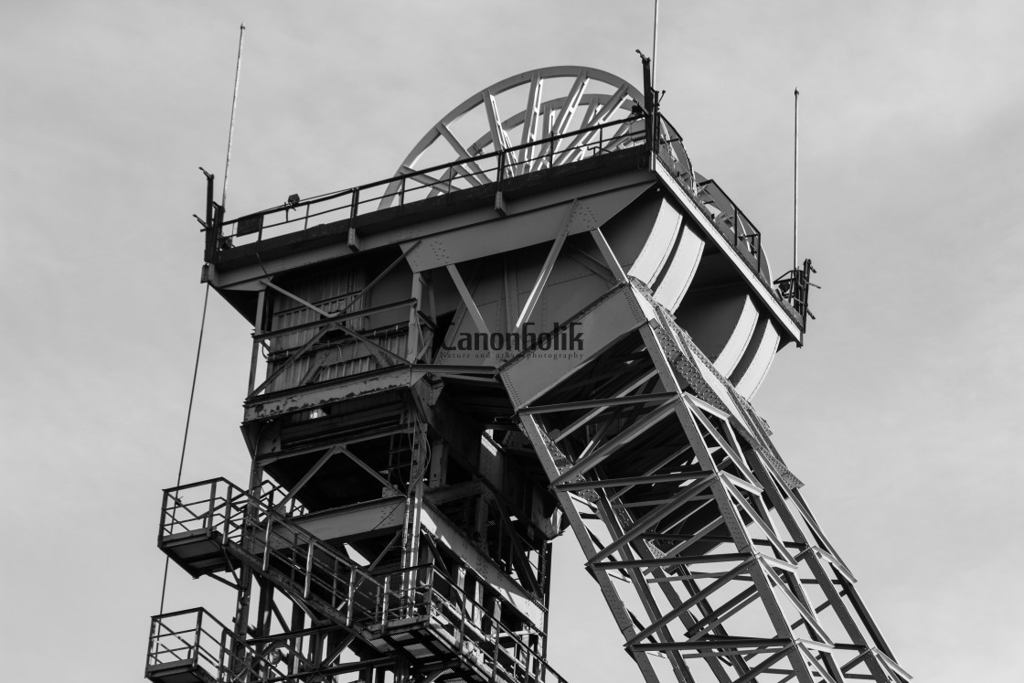 """Old coalmine"" stock image"