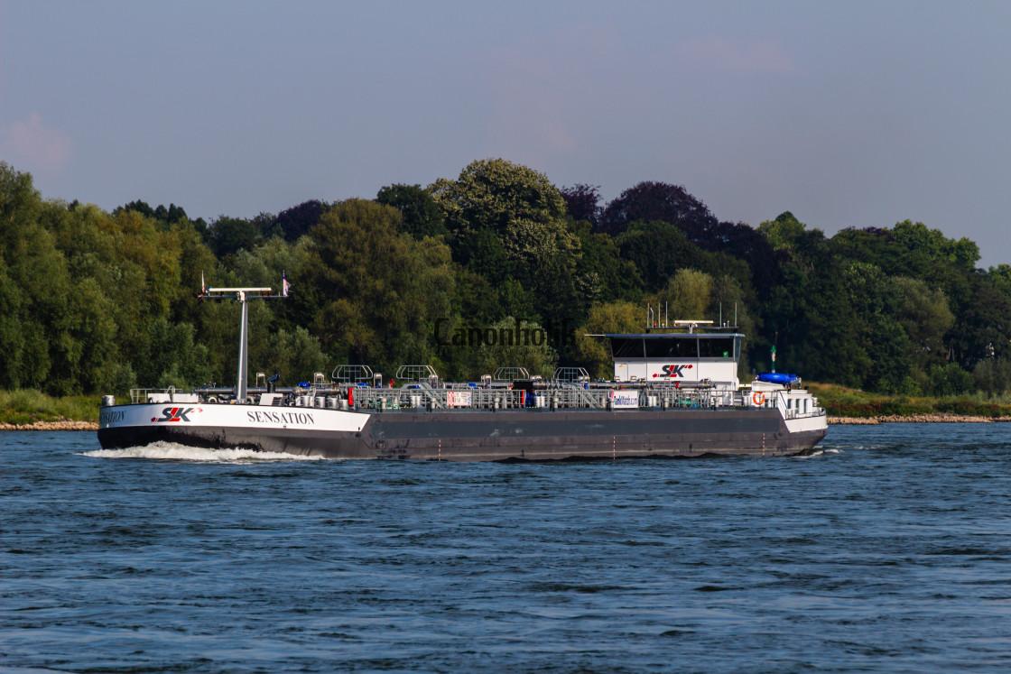 """Ship on Rhine"" stock image"