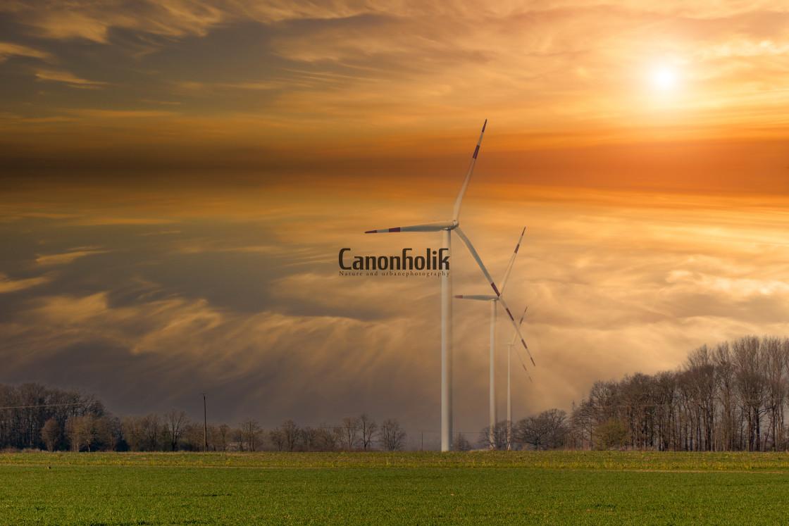 """Sundown in Sendenhorst"" stock image"