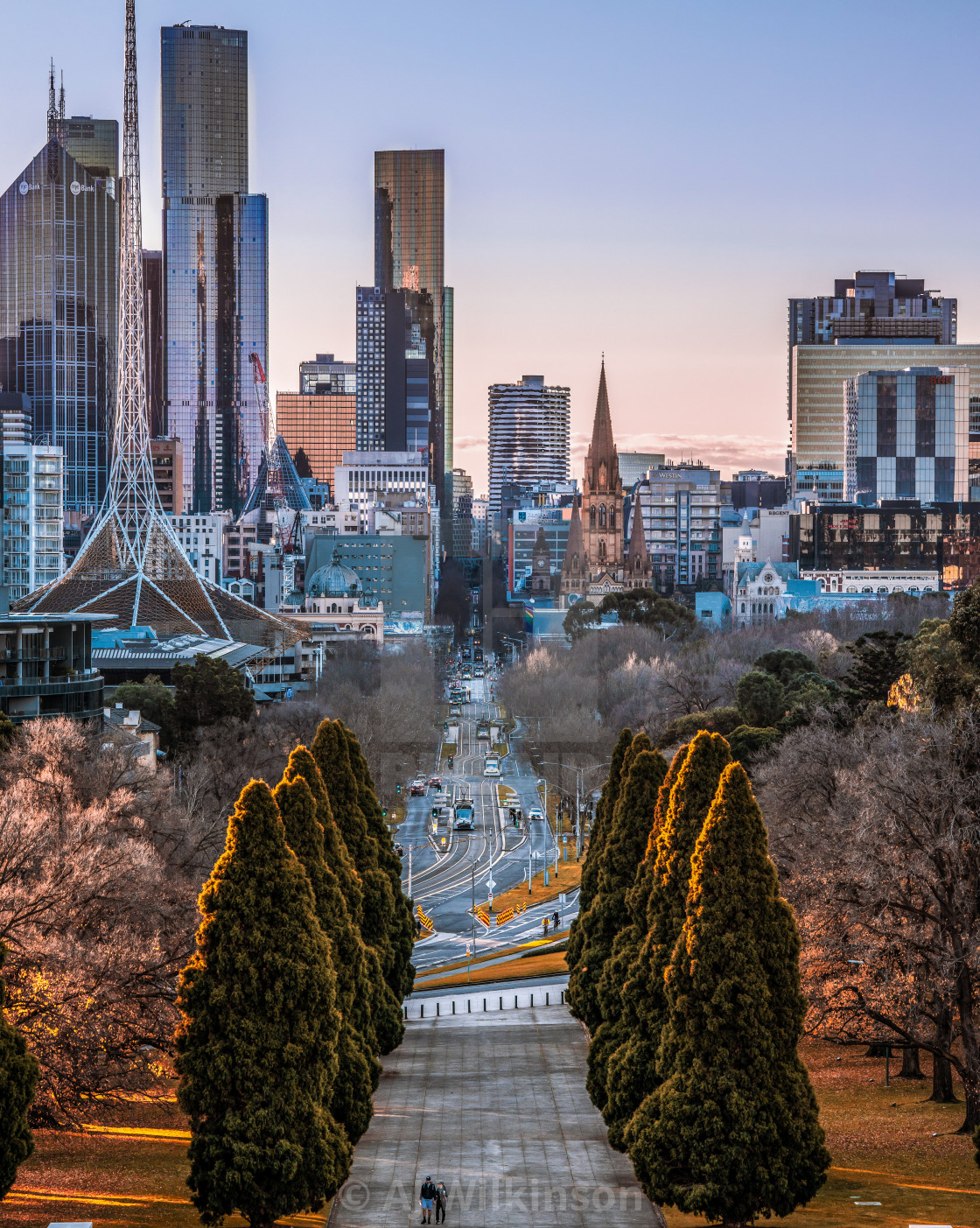 """""""The Heart of Melbourne"""" stock image"""
