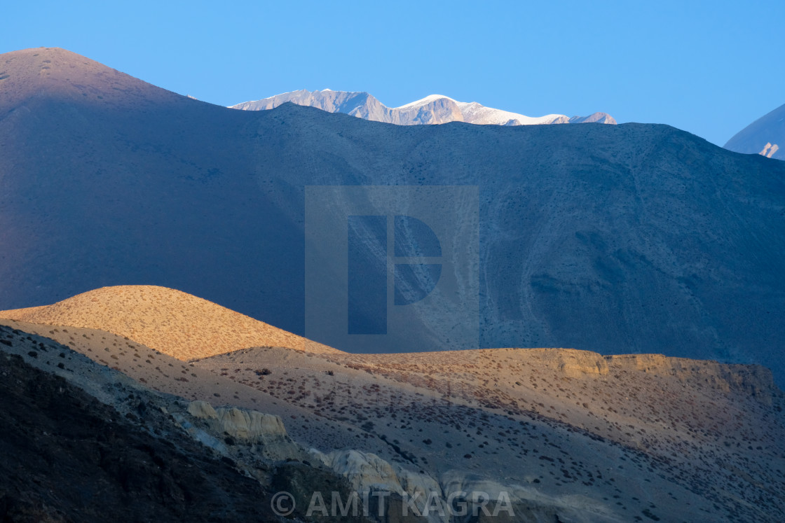 """Sunrise in Lower Mustang, Nepal"" stock image"