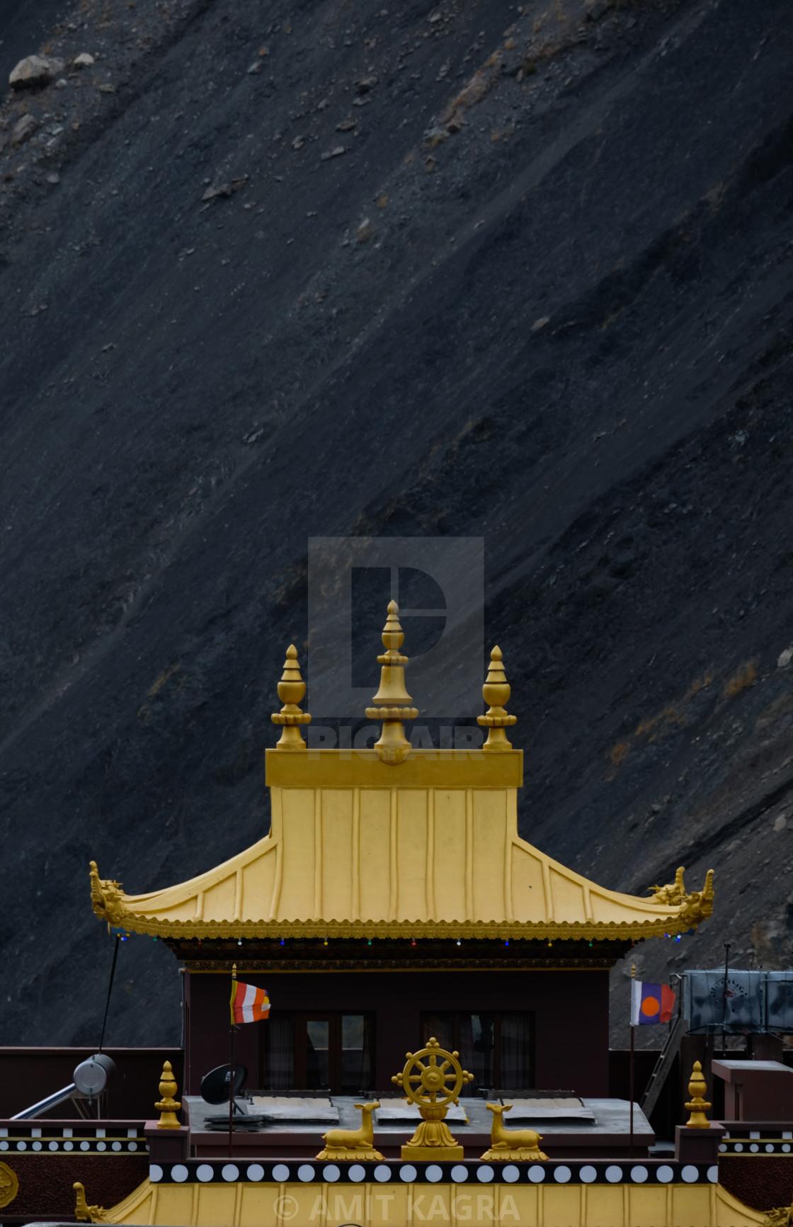"""""""Kag Chode Thupten Samphel Ling Monastery In Kagbeni, Mustang, Nepal"""" stock image"""
