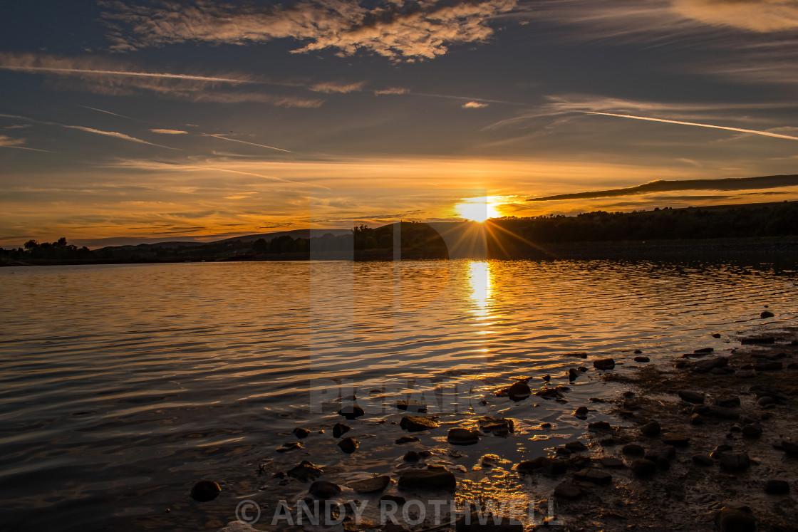 """""""Burwain sunset"""" stock image"""