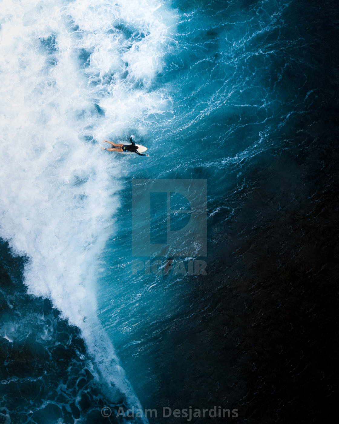 """Lonely Surfer"" stock image"
