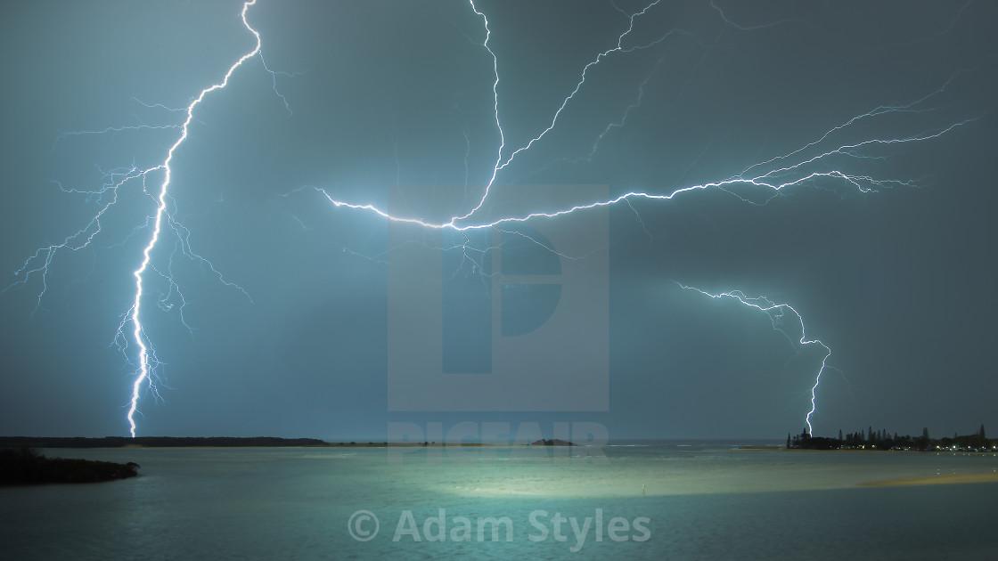 """Maroochydore Lightning"" stock image"