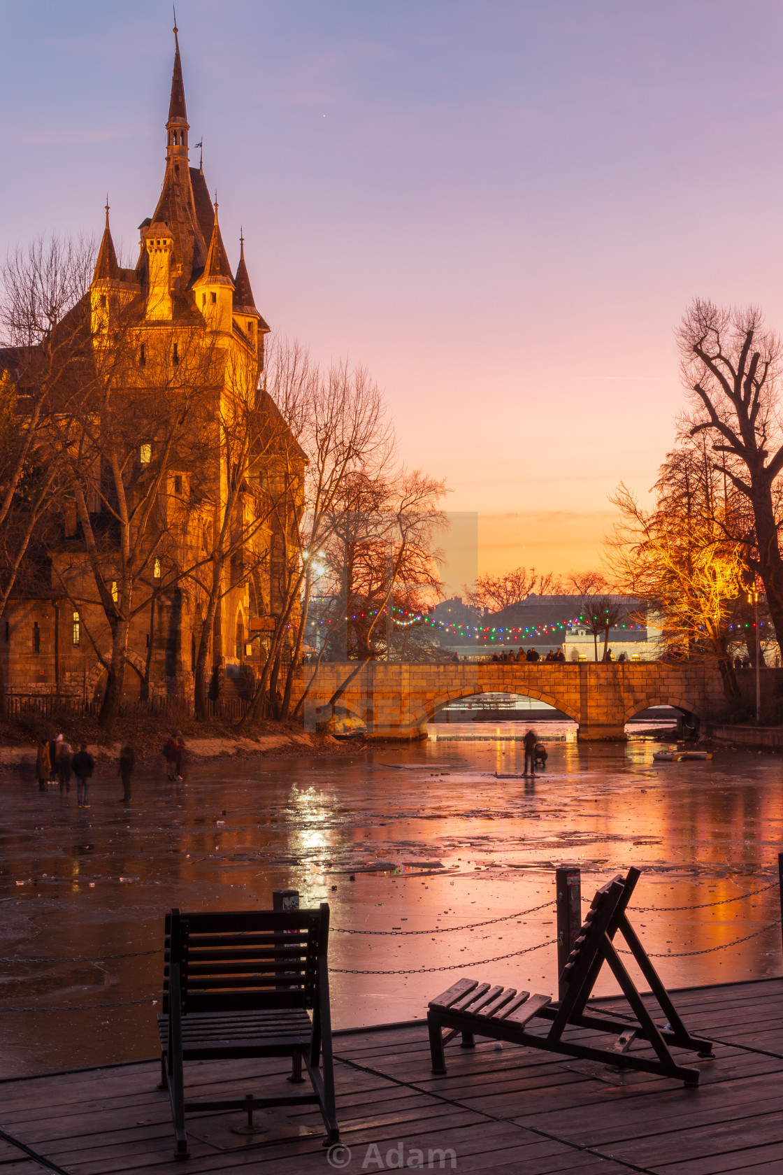 """Vajdahunyad castle"" stock image"