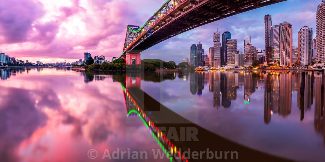 """""""Brisbane Reflections"""" stock image"""