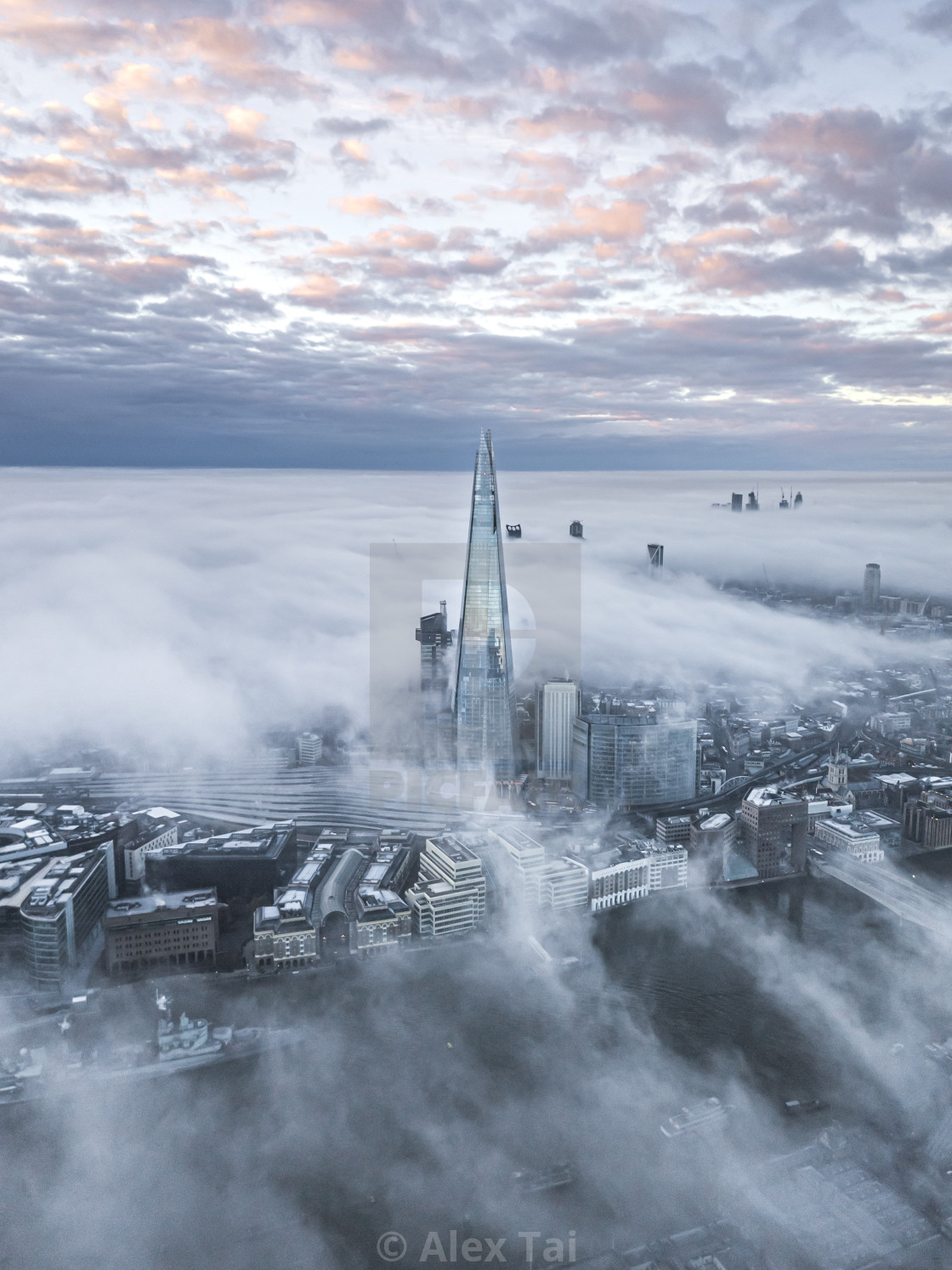 """""""The Shard in Fog"""" stock image"""