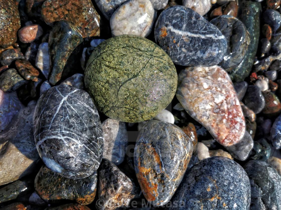 """Beach stones, Turkey"" stock image"
