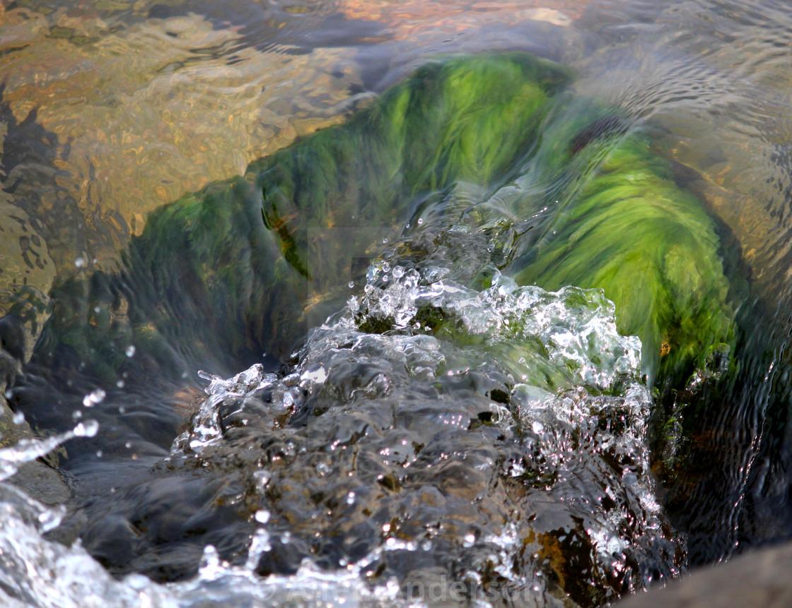 """""""Flowing Lake Water"""" stock image"""