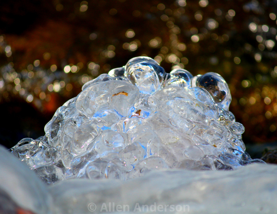 """Lake Ice Bubbles"" stock image"