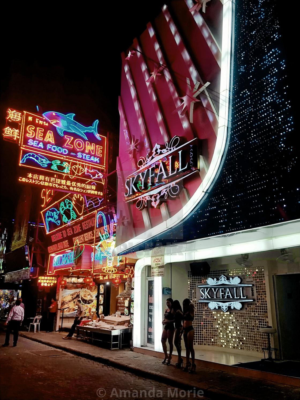 """""""Pattaya Walking Street"""" stock image"""