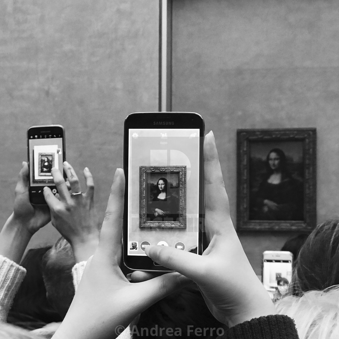 """Mona Lisa portrait at the Louvre Museum"" stock image"