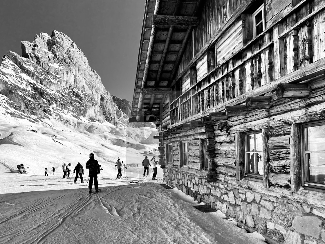"""Val Gardena ski lodge."" stock image"